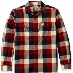 Carharrt Hubbard button down flannel plaid 2XL